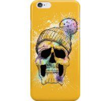 Pastel Skull on Orange iPhone Case/Skin