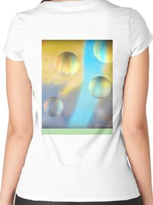Bubble Fun Women's Fitted Scoop T-Shirt
