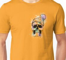Pastel Skull on Orange Unisex T-Shirt