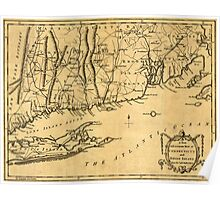 American Revolutionary War Era Maps 1750-1786 139 A new and accurate map of Connecticut and Rhode Island from best authorities Poster