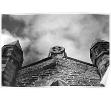 Phantasmagoria ~ Black & White Gothic Church Image ~ St Mary's Church, Bagillt Poster