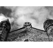 Phantasmagoria ~ Black & White Gothic Church Image ~ St Mary's Church, Bagillt Photographic Print