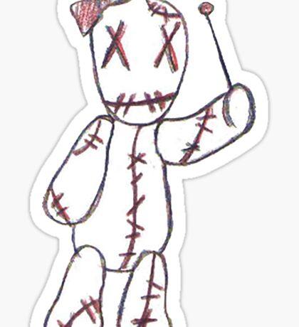 """Pin me <3"" Voodoo Doll Sticker"