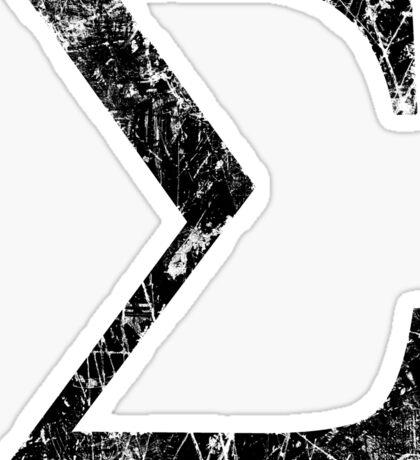 Sigma Greek Letter Symbol Grunge Style Sticker