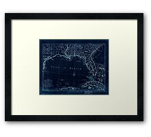 American Revolutionary War Era Maps 1750-1786 061 A map of East and West Florida Georgia and Louisiana  with the islands of Cuba Bahama and the countries Inverted Framed Print