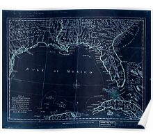 American Revolutionary War Era Maps 1750-1786 061 A map of East and West Florida Georgia and Louisiana  with the islands of Cuba Bahama and the countries Inverted Poster