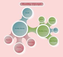 Healthy Lifestyle infographics One Piece - Long Sleeve