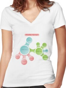 Healthy Lifestyle infographics Women's Fitted V-Neck T-Shirt
