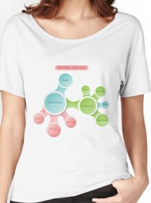 Healthy Lifestyle infographics Women's Relaxed Fit T-Shirt