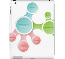 Healthy Lifestyle infographics iPad Case/Skin