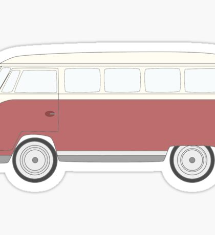 Red Volkswagen Bus Sticker