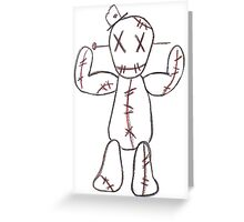 """""""Take the pain"""" Voodoo Doll Greeting Card"""