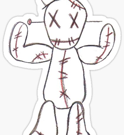 """Take the pain"" Voodoo Doll Sticker"
