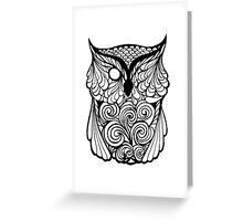 One Eyed Owl Greeting Card