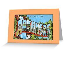 Vintage Greetings from Arkansas Greeting Card