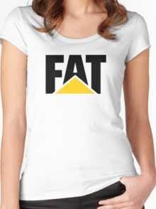 STAY FAT Women's Fitted Scoop T-Shirt