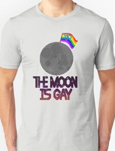 The moon is gay(gay male flag) T-Shirt