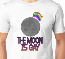 The moon is gay(gay male flag) Unisex T-Shirt