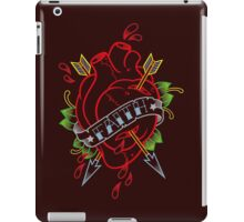 Traditional heart with banner tattoo iPad Case/Skin
