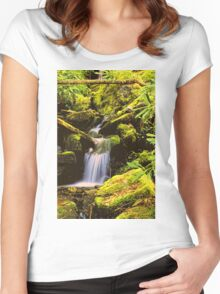 WATERFALL,TREMONT Women's Fitted Scoop T-Shirt