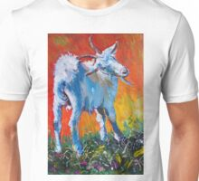 White goat painting - scratching my back Unisex T-Shirt