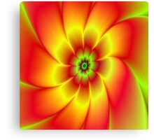 Red Yellow Green and Orange Flower Canvas Print
