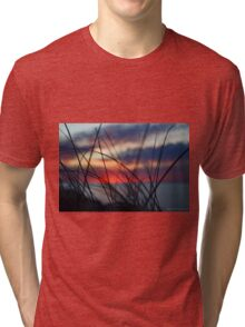 Dusk Colors | Montauk, New York Tri-blend T-Shirt