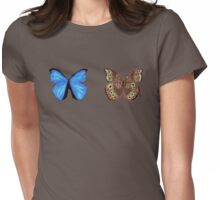 Blue Morpho Butterfly Womens Fitted T-Shirt