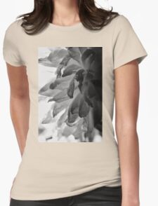 Flower Close Ups - Black/White - One Womens Fitted T-Shirt