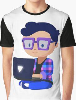 Cute Hipster Geek Graphic T-Shirt