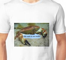 Brutus, the brown crab fancies himself Unisex T-Shirt