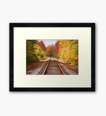 Fading Tracks Framed Print