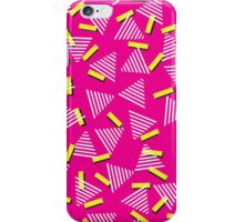 Pink 1990s Triangle Design iPhone Case/Skin