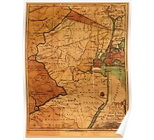 American Revolutionary War Era Maps 1750-1786 148 A New and accurate map of the present seat of war in North America comprehending New Jersey Philadelphia Poster