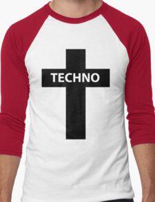 TECHNO MUSIC Men's Baseball ¾ T-Shirt
