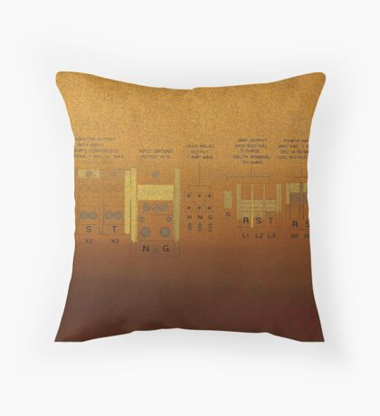 Industrial Panel Throw Pillow