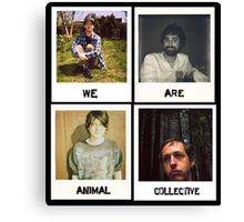 We Are Animal Collective (Polaroids) Canvas Print