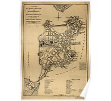 American Revolutionary War Era Maps 1750-1786 252 A plan of the town of Boston with the intrenchments &c of His Majestys forces in 1775 From the observations Poster