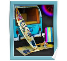 Beach Bumb Surfing  Poster