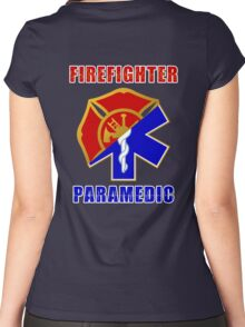 Firefighter-Paramedic Women's Fitted Scoop T-Shirt