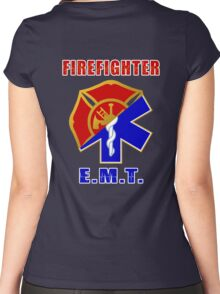 Firefighter-EMT Women's Fitted Scoop T-Shirt