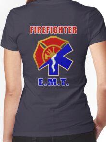 Firefighter-EMT Women's Fitted V-Neck T-Shirt