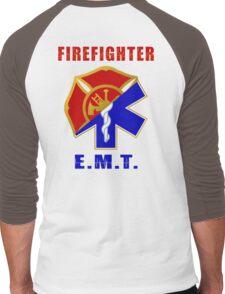 Firefighter-EMT Men's Baseball ¾ T-Shirt