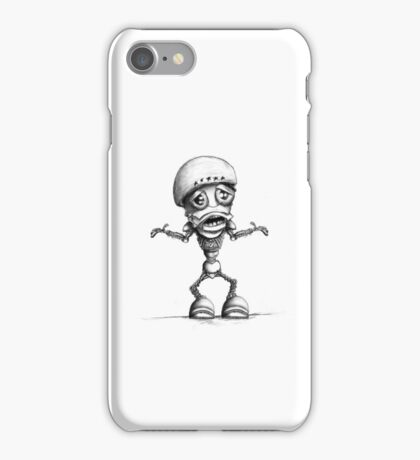 Custom Robot Illustration iPhone Case/Skin