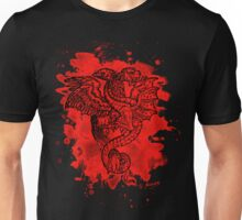Griffon & Dragon - bleached red Unisex T-Shirt
