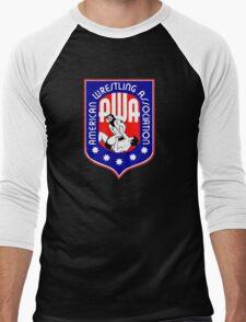 AWA WRESTLING LOGO Men's Baseball ¾ T-Shirt