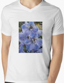 Blue Delphinium Mens V-Neck T-Shirt