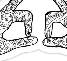 Pi Beta Phi Hand Sign Sticker