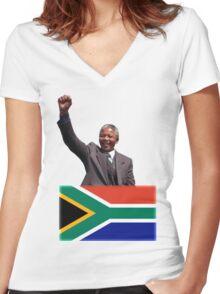Madiba Women's Fitted V-Neck T-Shirt