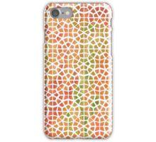 Tie Dye Mosaic Orange iPhone Case/Skin